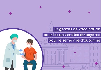 Vaccination Requirements for Foreign Universities for the Fall Semester